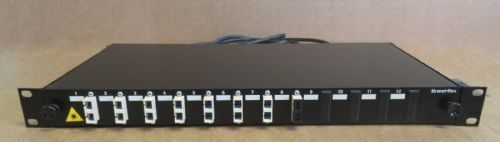 Brand-Rex 12 Port Optical LC single Mode 8 Way Loaded Fibre Patch Panel 1U